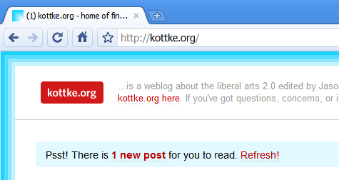 Kottke unread posts notification