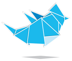 Twitter origami icon by Paddy Donnelly