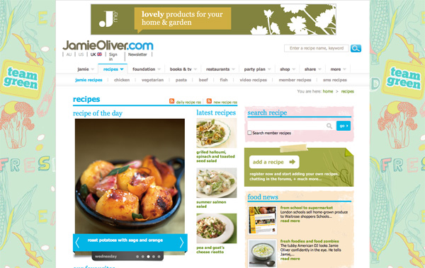 Jamie Oliver Recipes website