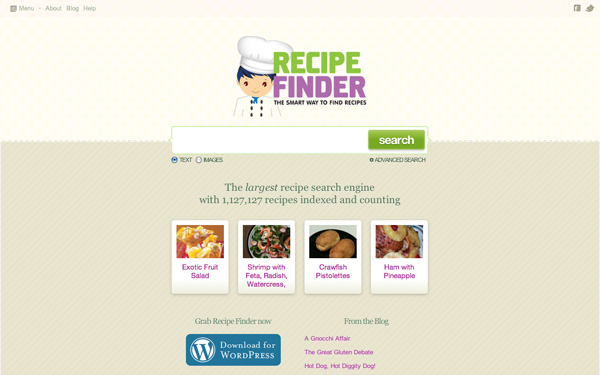 Recipe Finder website