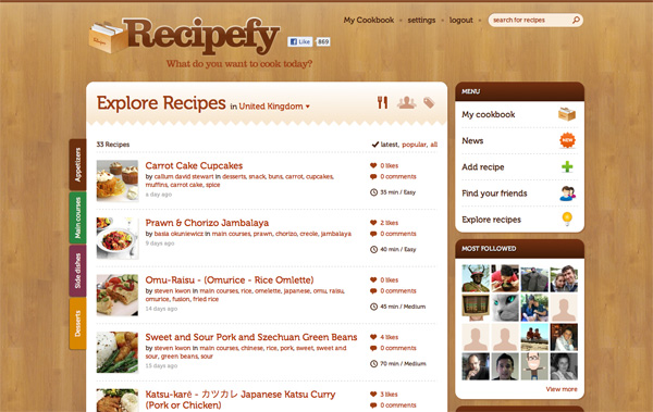 Recipefy website