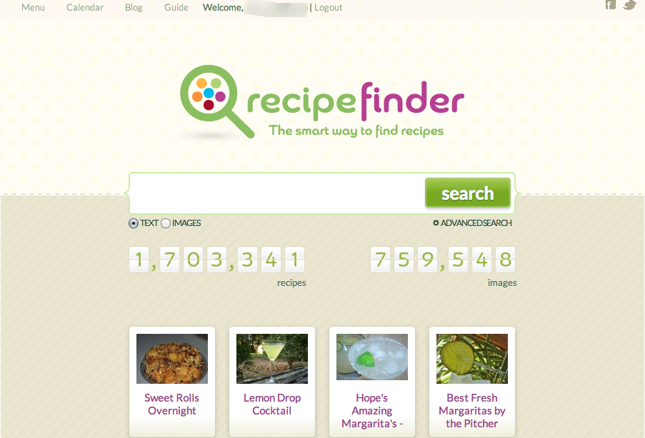 Recipe Finder, the Largest Recipe Search Engine Launched