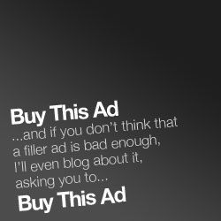 Using blog posts to sell your ads, the next logical step?