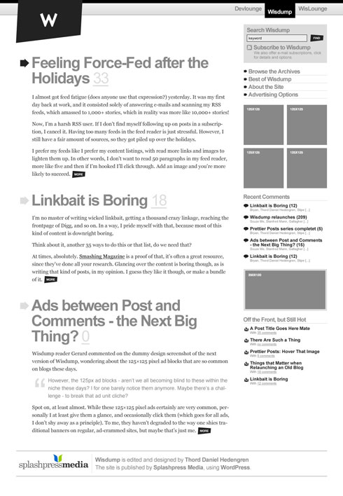 Wisdump redesign concept, part 3