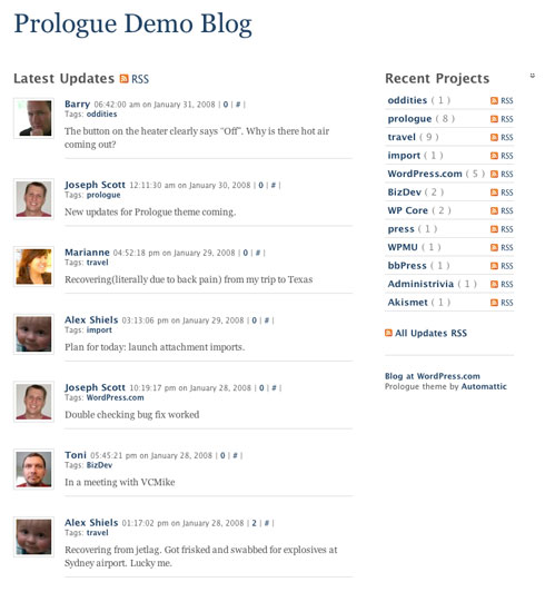 Prologue: Microblogging with WordPress