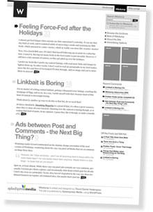 Redesigning Wisdump: The Categories