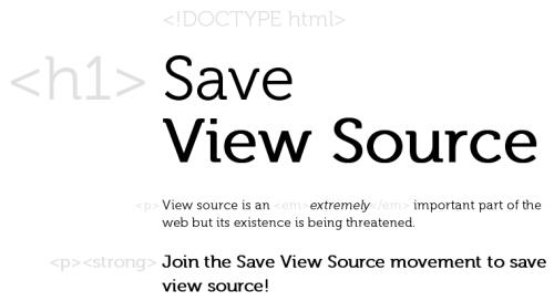 Save View Source