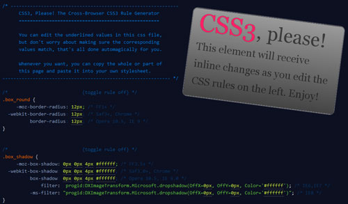 Thank you, CSS3 Please!
