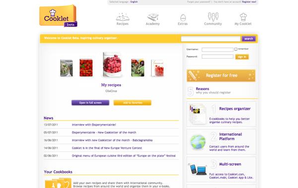 Cooklet website