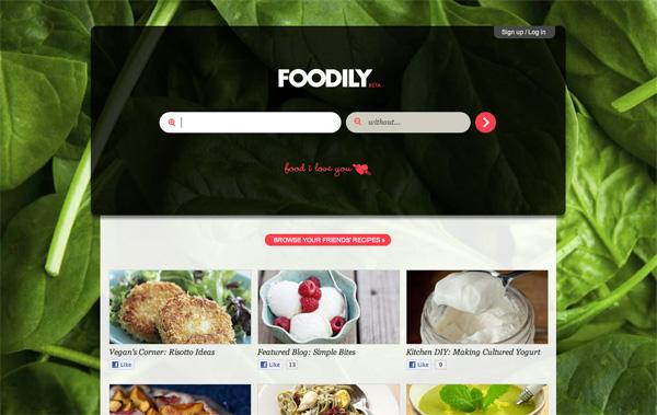 Foodily website