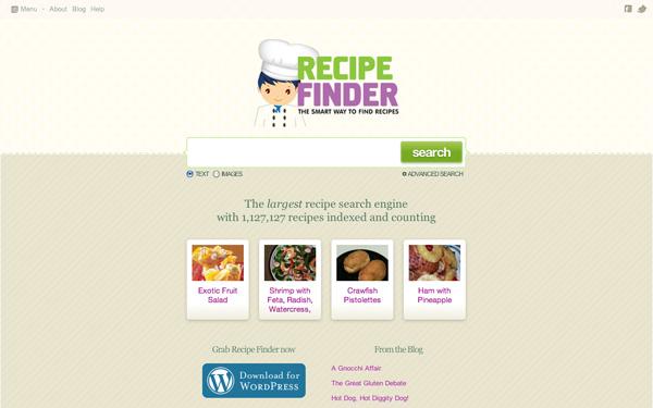 Recipe Finder website